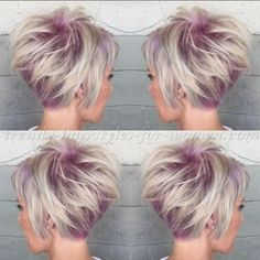 Only hair color application pinky root pixie