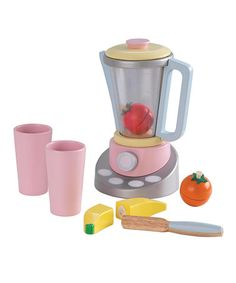 What will they think of next?> lol Look what I found on #zulily! Pastel Smoothie Set by KidKraft #zulilyfinds