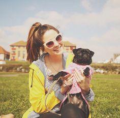 Zoe and her puppy nala