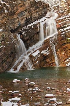 Photo of Cameron Falls in Waterton Lakes<br />National Park, Alberta, Canada.