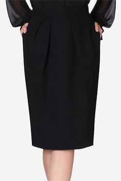 Raven Crepe Tulip Skirt   Take a step away for the traditional pencil skirt silhouette this season and play with a more voluminous shape. Creating a tulip like shape, this piece will instantly add a playful feel to your smart attire.