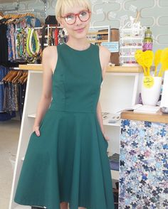 Kade looks sweet as apple pie in this gorgeous dress from @jennifer_glasgow_design don't you think?  #dailylife #dailydress #outfit #whatiwore #fashion #fashionista #fashionblogger #fashionblog #fashionable #fashionstyle #instafashion #fashiondiaries #retail #fashion #fashionblogger #madeincanada