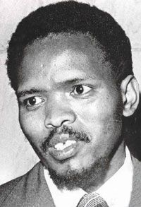 Steve Biko of the Black Consciousness Movement and World Student Christian Federation. Steve Biko spoke against apartheid and used non-violent resistance as a tactic. He was killed by the Apartheid Regime on September