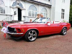 Totalrestaurert Ford Mustang Convertible (1970) til brudekjøring.