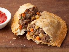 Meat Pasty: Found this recipe at my bf's request. I goofed and forgot to put the seasoning in the meat mixture...whoops! But they still turned out delicious! *sigh of relief*