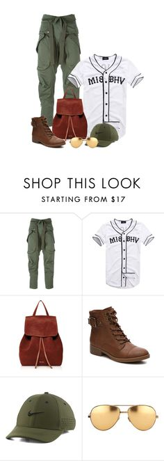 """""""Untitled #198"""" by kingdukez ❤ liked on Polyvore featuring Faith Connexion, Mansur Gavriel, NIKE and Linda Farrow"""