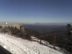 Top of Pico mountain while skiing.