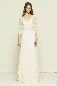 Hipster bride♥Collette Dinningan Bridal Gown Collections – French Corded Lace Long Sleeve Wedding Dress