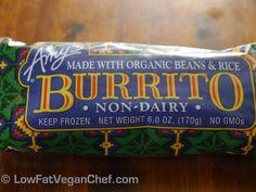 amys organic vegan   ... Amy's Kitchen Bean And Rice Burrito Non Dairy — Low Fat Vegan Chef