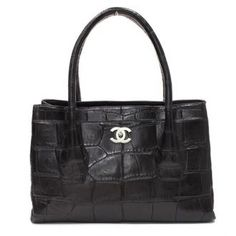 Chanel Rare Black Alligator Tote Handbag <3
