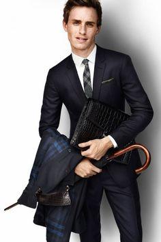 Ready for, meeting..Eddie Redmayne, Modeling for Burberry