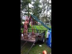 ▶ Home-made swimming pool slide - YouTube