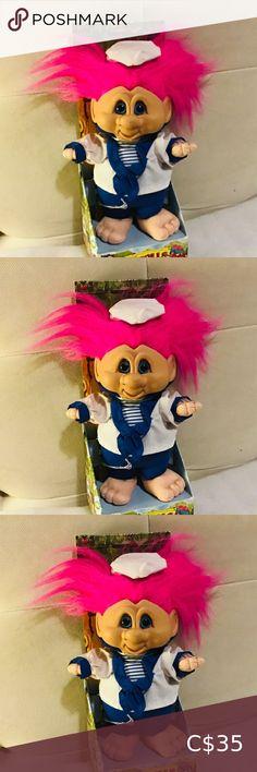 "Troll Terra Nova 91/2"" tall 1992 Ganz I have this troll doll from 1992, still in original box she is 91/2"" tall...Pink Hair,,Sailor Suite ,Blue Eyes,, Terra Nova Troll Toys Dolls & Accessories Troll Dolls, Doll Accessories, Pink Hair, Doll Toys, Blue Eyes, Pink Blue, Kids Toys, Sailor, Nova"