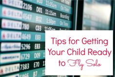 Great travel tips for when your kids fly solo