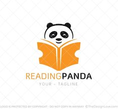 Reading Panda Logo & Business Card Template : Branding for publishing businesses, bookstores, libraries, reading applications, and others. Bookstores, Libraries, Stationary Design, Logo Design, Design Shop, Logo Maker, Business Card Logo, Art Logo, Startups