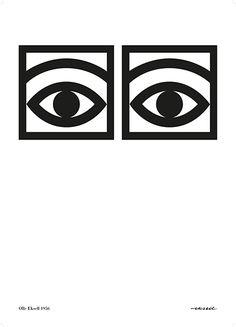 ÖGON CACAO - 1956 - THE ORIGINAL - ONE EYE - BLACK AND WHITE - 32