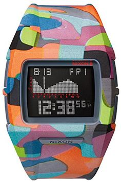 Women's Wrist Watches - Nixon Lodown S Tide Watch  Neo Preen *** Check out the image by visiting the link.