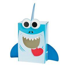 Shark Valentine Card Holder Box Craft Kit - OrientalTrading.com