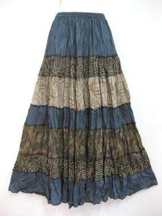 New-Long-Skirt-Patchwork-Hippie-Gypsy-Lagenlook-Bohemian-Boho-Smock