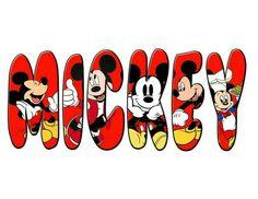 Letras. Mickey.