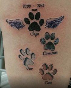 Tatuajes de gatos 14 Cool Small Tattoos, Small Tattoo Designs, Trendy Tattoos, Cute Tattoos, Tatoos, Hand Tattoos, Cat Paw Tattoos, Cat Paw Print Tattoo, Print Tattoos