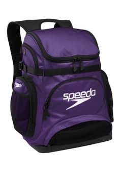 Speedo purple swim bag check  I wanna get a small one of these for swim in this color or a blue or red and get it monogrammed