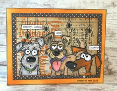 Halloween fun with the Hubble Bubble Toil and Trouble Gang aka Tim Holtz/Stampers Anonymous Crazy Dogs