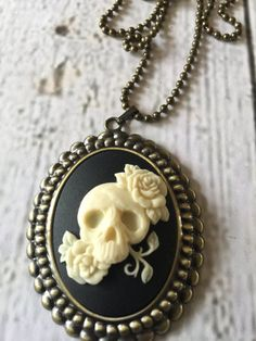 Rosey Skull Candy Necklace by RingAroundRosey on Etsy