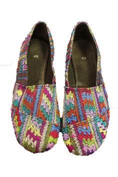 Recycled Guatemalan Textile Shoes - Sz  40 from Alternatives Global Marketplace