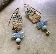 Primitive Tribal Earthy Rustic Earrings by SheriMalleryHandwork, $43.00 https://www.etsy.com/listing/201146043/primitive-tribal-earthy-rustic-earrings?ref=shop_home_active_2