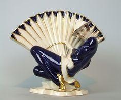 Czech Royal Dux lady fan dancer – 1920's