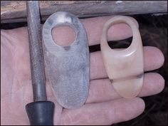Making an Archer's Thumb Ring  from Cow Horn, Antler or Bone