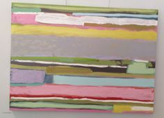 Smaller striped painting Sunny Goode