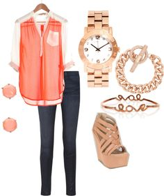 """""""Coral Way"""" by vaneros on Polyvore"""
