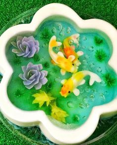 3D Jelly flower and fish by Chan Wai Yee