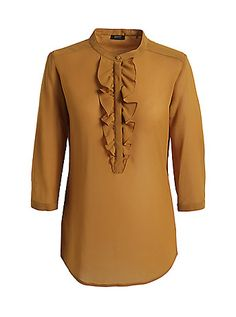 #Esprit crepe frill #shirt pair it with a trench coat and voila !