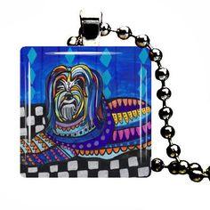 Schapendoes Necklace Pendant Art Dog Charm Tag Jewelry Unique Christmas gift