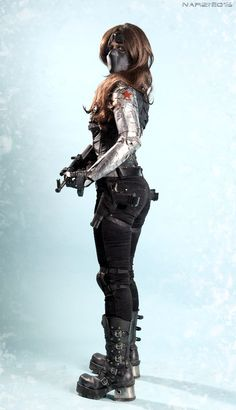 female Winter Soldier cosplay by NarciSSai on DeviantArt Epic Cosplay, Marvel Cosplay, Amazing Cosplay, Cosplay Makeup, Cosplay Outfits, Cosplay Girls, Marvel Halloween Costumes, Halloween Cosplay, Marvel Characters