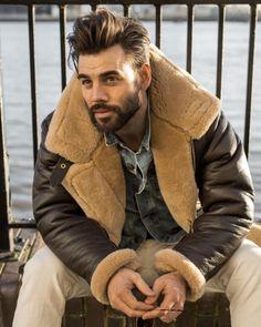 Awesome Beard Styles For Men in 2020 – Beard Beasts Men's Leather Jacket, Shearling Jacket, Sheepskin Jacket Mens, Sheepskin Coat, Leather Jackets, Beard Styles For Men, Hair And Beard Styles, Short Beard Styles, Sexy Beard