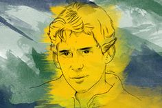 Portrait d'Ayrton Senna