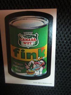 Wacky Packages Canada WET Fink 1973 Topps CANADA by kookykitsch, $20.00
