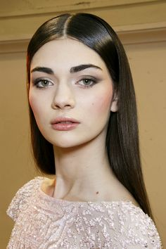 Antonina Vasylchenko backstage at Zuhair Murad Haute Couture Spring/Summer 2014.