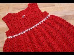 Vestido para niñas Chantilly. Nivel fàcil, fàcil : ) Segunda parte . 2- - YouTube