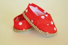 American Girl Doll Shoes  Toms Style  by daisychainsdoll on Etsy, $15.00