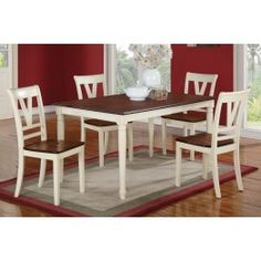 5pc Dining Set 2391 - White on brown?