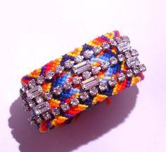 Diamantes de imitación pulsera de la amistad - felicidad exótica (hecho por encargo)