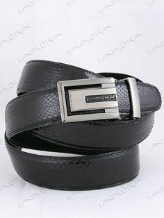 Implora Black Cobra Snake Skin Belt XXL