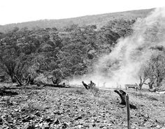 First blast of the Snowy Mountains Scheme Date: 1949 Snowy Mountains, Move Mountains, Australian Road Trip, Historical Pictures, Back In The Day, Road Trips, Wwii, Wales, Colonial