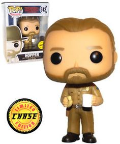 Funko POP! Television Stranger Things #512 Hopper (No Hat, With Coffee & Donut) - CHASE LIMITED EDITION - New, Mint #FunkoPop #StrangerThings #Collectibles