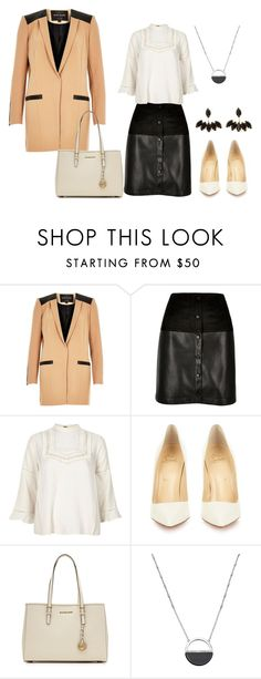 """""""Sin título #701"""" by aliciagorostiza on Polyvore featuring moda, River Island, Christian Louboutin, MICHAEL Michael Kors, White House Black Market, women's clothing, women, female, woman y misses"""